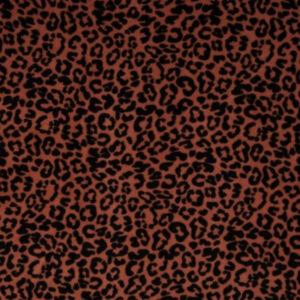 Nicky Velours luipaard terra