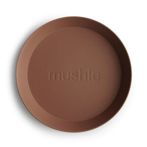 MUSHIE   PLATES Round -CARAMEL  (2 stuks)