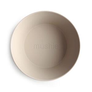 MUSHIE   BOWL Round - VANILLA  (2 stuks)
