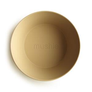 MUSHIE   BOWL Round - mustard (2 stuks)