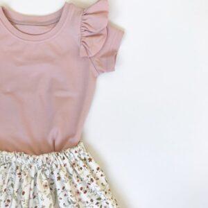 Shirt - RUFFLE roze
