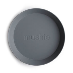 MUSHIE   PLATES Round - SMOKE (2 stuks)