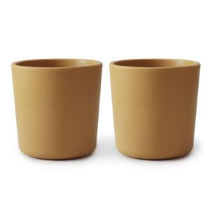 MUSHIE - CUP MUSTARD  (2 stuks)