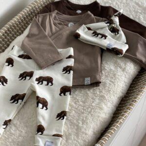 Newborn set - Bear brown