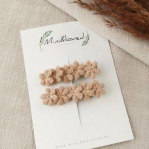 Haarspeldjes - Lace Terracotta klein (2 stuks)