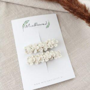 Haarspeldjes - Lace Flower klein (2 stuks)