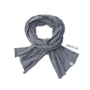 Sjaal - Zwart met Witte Strepen