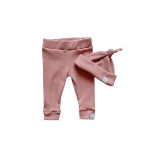 Newborn set - Smal rib old pink