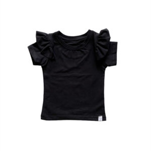 Shirt - RUFFLE zwart