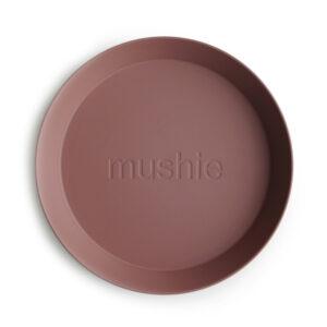 MUSHIE   PLATES Round - Woodchuck (2 stuks)