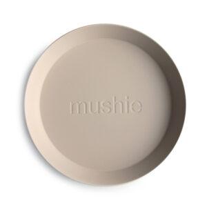 MUSHIE   PLATES Round - VANILLA (2 stuks)