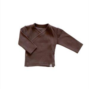 Longsleeve - Overslag Rib brown