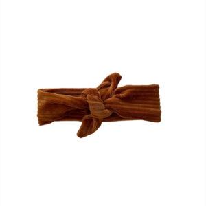 Haarband Breed - Rib cognac